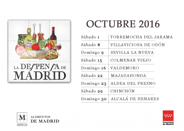 Calendario Octubre LA DESPENSA DE MADRID