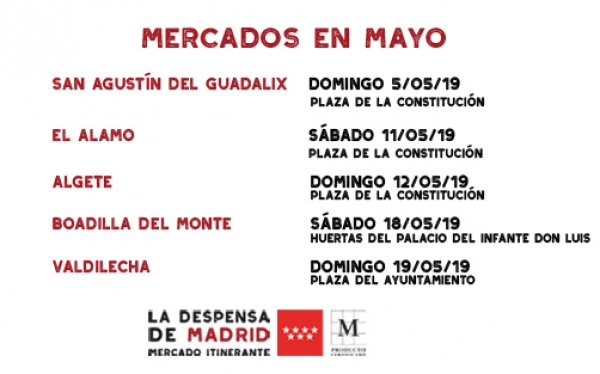 Calendario LA DESPENSA Mayo 2019