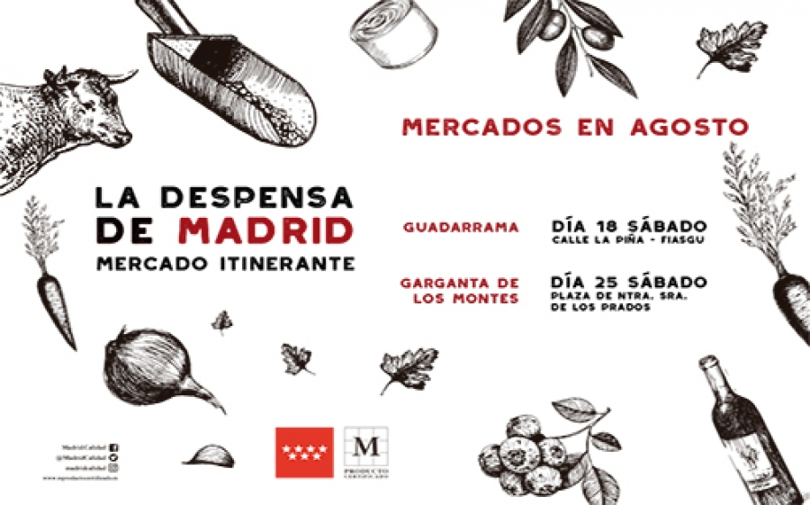 Calendario Agosto Mercado Itinerante La Despensa de Madrid